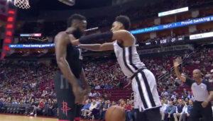 NBA – Bousculade entre James Harden et Dejounte Murray !