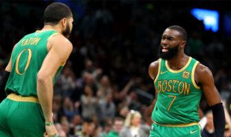 Jaylen Brown et Jayson Tatum entrent dans l'histoire des Celtics