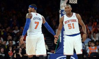 Carmelo Anthony et Metta World Peace aka Ron Artest aux New York Knicks