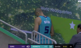 Nicolas Batum sort sur blessure avec les Charlotte Hornets