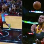 NBA – Derrick Jones Jr escalade Rudy Gobert !