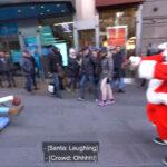 NBA – Le Père Noël s'invite à Times Square et humilie les passants