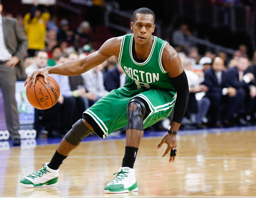 Rajon Rondo contre les Sixers en tant que meneur des Boston Celtics