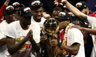 Les Toronto Raptors savourent leur titre de champion NBA