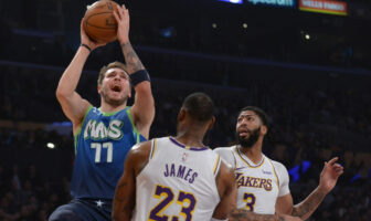 NBA - Luka Doncic réagit à sa première victoire contre LeBron