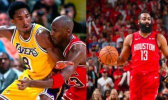 Michael Jordan, Kobe Bryant et James Harden