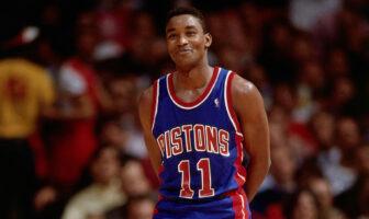 Isiah Thomas sous le maillot des Pistons