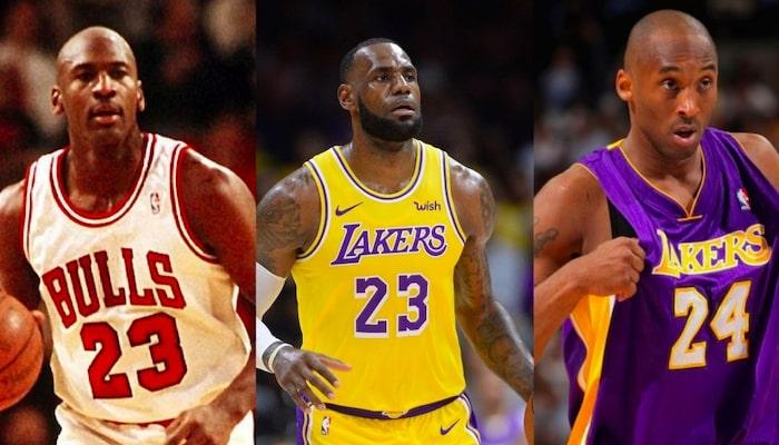 Michael Jordan, LeBron James, Kobe Bryant
