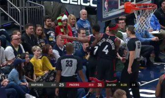 Accrochage entre Kyle Lowry et un fan