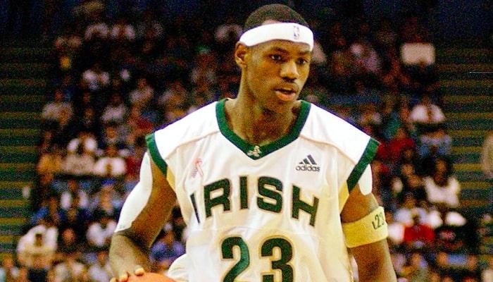 LeBron James durant ses années lycée