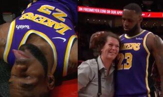 LeBron James comme un enfant face aux Blazers