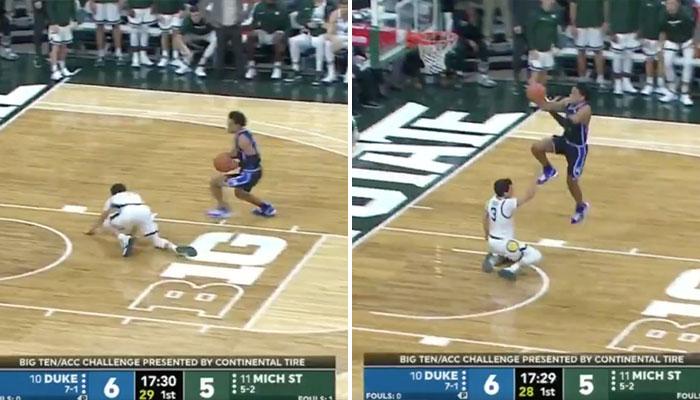Tre Jones fait le buzz en NCAA avec une action folle pour Duke