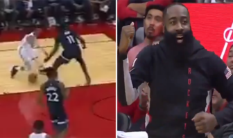 Russell Westbrook shammgod move, James Harden danse
