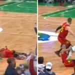 NBA – Trae Young enjambé par Marcus Smart, il réagit