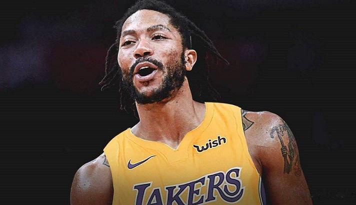 Derrick Rose maillot Lakers