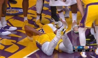 Anthony Davis sort sur blessure après une chute très inquiétante