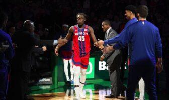 Sekou Doubmouya sous le maillot des Pistons