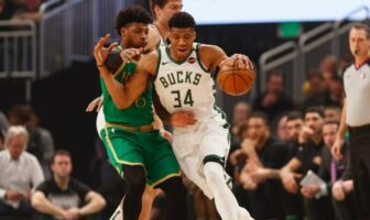 défense de marcus smart sur giannis