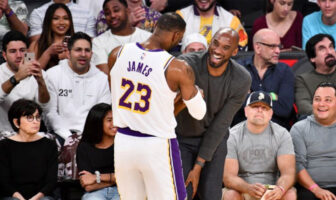 LeBron James et Kobe Bryant au Staples Center