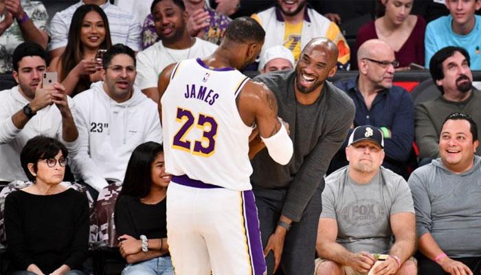 LeBron James et Kobe Bryant au Staples Center