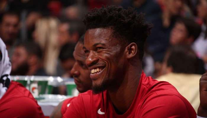 Jimmy Butler du Heat avec le sourire