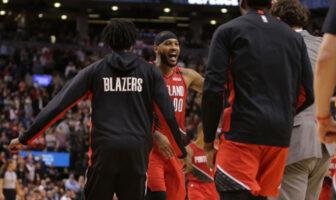 Carmelo Anthony inscrit le game winner pour les Blazers face aux Raptors