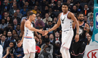 Curry et Giannis lors du All-Star Game