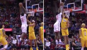 NBA – Le monstrueux contre de JaVale McGee sur Clint Capela