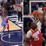 NBA – Jordan McLaughlin, 1m80, grimpe sur Clint Capela !
