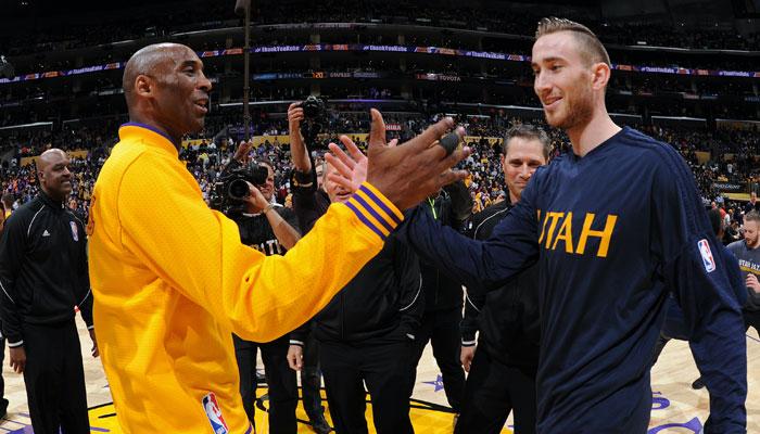 Kobe Bryant et Gordon Hayward