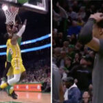 NBA – Jaylen Brown pose un dunk sur la tête de LeBron James !