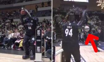 Un robot participe au concours à 3 points au Japon