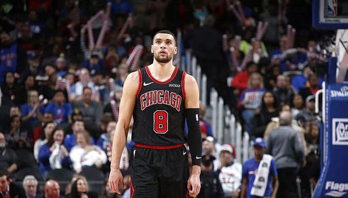 Zach LaVine avec les Chicago Bulls