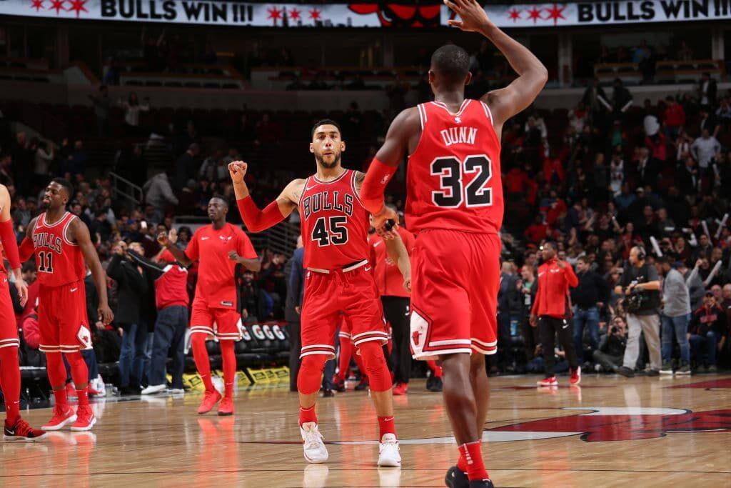 Les Bulls de Chicago, avec Kris Dunn notamment