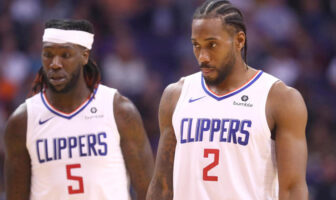 Montrezl Harrell et Kawhi Leonard des Clippers
