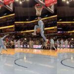 NBA – Ja Morant sort un gros between-the-legs à l'échauffement !