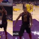 NBA – Tristan Thompson défie LeBron James après un dunk