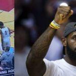 HS/NBA – Bronny reçoit un projectile en plein match, LeBron réagit
