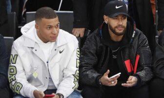 Neymar et Mbappé comme de grands enfants pour supporter Giannis