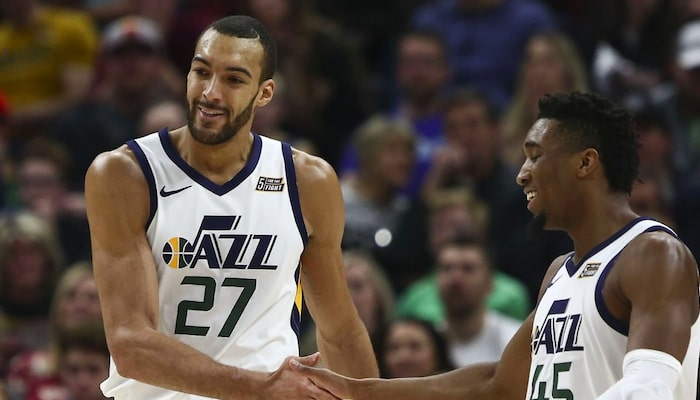 check entre Gobert et mitchell