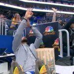 NBA – Steph Curry comme un fou après le gros match du rookie des Warriors