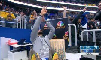 Steph Curry comme un fou après le gros match du rookie des Warriors