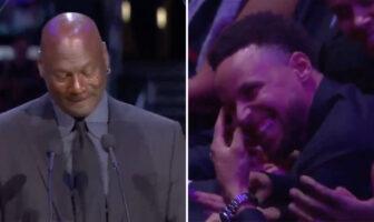 En larmes pendant son hommage à Kobe, MJ fait la blague parfaite