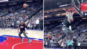 NBA – Le dunk monstrueux de Ja Morant à l'échauffement !