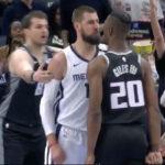 NBA – Accrochage musclé entre Valanciunas et Giles, le public en feu
