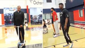 NBA – En trottinette, Alvin Gentry chante du… Céline Dion à Zion Williamson