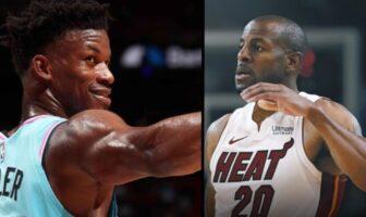 Jimmy Butler et Andre Iguodala au Heat