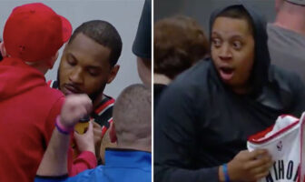 Carmelo Anthony a (fortement) choqué un fan