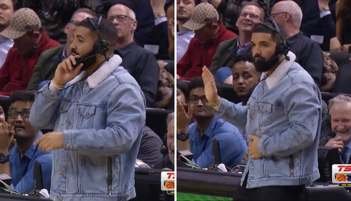 Drake intenable au micro des Raptors