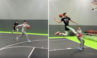 Dunk fou amateur basketball